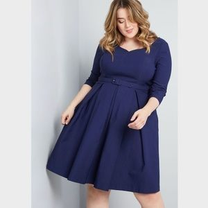 Modcloth Plus Sartorial Secret Fit and Flare Dress
